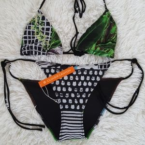 New Clover Canyon Swimsuit Set Size Large NWT